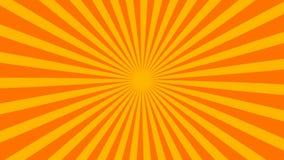 El fondo rayado retro del resplandor solar con el efecto del grunge, contexto generado por ordenador, 3D rinde ilustración del vector