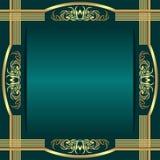 El fondo rico elegante adornó las fronteras adornadas Imagenes de archivo