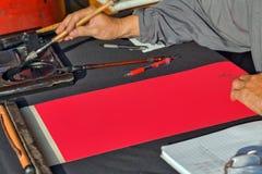 El fondo rojo para crea el espacio de la copia de la idea Fotografía de archivo