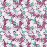 El fondo romántico floral inconsútil del modelo de la primavera florece el ornam Imagenes de archivo