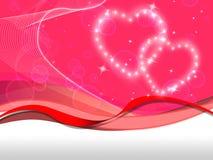 El fondo rosado de los corazones significa el Special y a la tarjeta del día de San Valentín del amor Fotos de archivo
