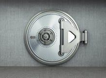 El fondo seguro grande 3d de alta resolución de la puerta rinde fotografía de archivo