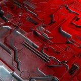 El fondo tecnológico abstracto hecho de diverso elemento imprimió la placa de circuito y llamaradas Ilustración del Vector