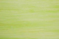El fondo texturizado de madera pintado del verde y blanco Foto de archivo