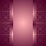 El fondo violeta adornó un ornamento. Imagenes de archivo
