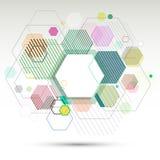 El fondo y la bandera geométricos abstractos de hexágonos vector eps10 Imagen de archivo libre de regalías