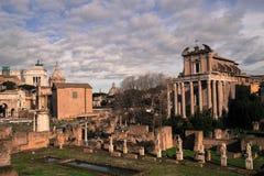 El foro romano Foto de archivo