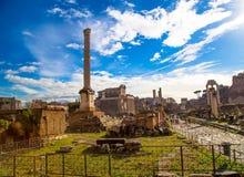 El foro romano Fotos de archivo libres de regalías