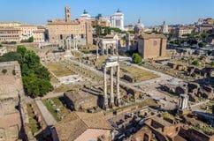 El foro romano, Roma, Italia Imagen de archivo