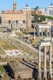El foro romano, Roma, Italia Foto de archivo