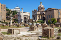 El foro romano, Roma, Italia Fotografía de archivo