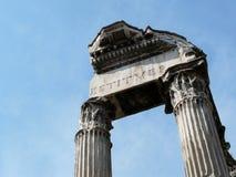 El foro romano (romano de Foro) en Roma, Italia Imagen de archivo libre de regalías