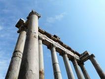 El foro romano (romano de Foro) en Roma, Italia Imagen de archivo