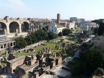 El foro romano (romano de Foro) en Roma, Italia Fotografía de archivo libre de regalías