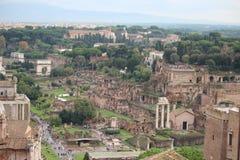 El foro Romanum imagenes de archivo
