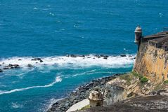 el-fortjuan morro Puerto Rico san Royaltyfri Fotografi