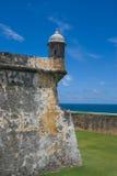 el-fortmorro Puerto Rico Arkivfoto