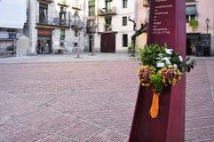 EL Fossar de Les Moreres in Barcelona, Spanien Lizenzfreies Stockfoto