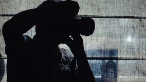 El fotógrafo toma cuadros metrajes