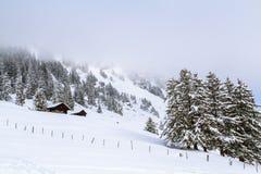El frío en las montañas Fotos de archivo libres de regalías