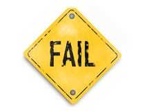 El fracaso no es el extremo - vintage, estilo de goma, cartel estupendo del negocio del extracto de la calidad Imagen de archivo