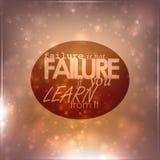 El fracaso no es fracaso ilustración del vector