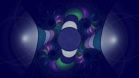 El fractal alinea de par en par Foto de archivo