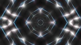 El fractal blanco abstracto se enciende, contexto de la representación 3d, ordenador que genera el fondo metrajes