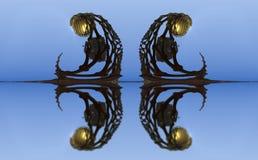 El fractal cuatro hace la representación geométrica abstracta de composition-3d Foto de archivo libre de regalías