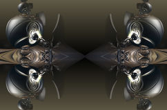El fractal cuatro hace la representación geométrica abstracta de composition-3d Imágenes de archivo libres de regalías