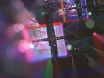 El fractal digital abstracto, hace estilo futurista de la fantasía del papel pintado etéreo de la energía etéreo, partido stock de ilustración