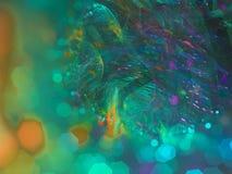 El fractal digital abstracto, rinde etéreo futurista de la fantasía, partido stock de ilustración