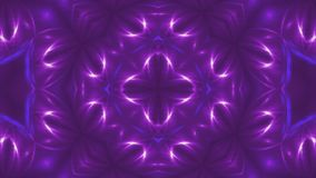 El fractal violeta abstracto se enciende, 3d el contexto, ordenador que genera el fondo metrajes