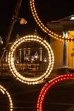 El fragmento de la composición de la Navidad en la ciudad Hall Square, Vil Fotos de archivo