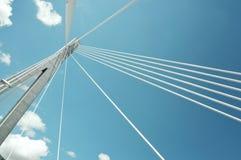 El fragmento de un cable permanecía el puente en Croatia Foto de archivo libre de regalías