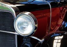 El fragmento de un viejo cierre del coche para arriba Imagenes de archivo
