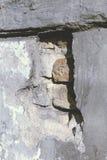 El fragmento de una pared vieja Foto de archivo