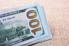 El fragmento del billete de dólar 100 Foto de archivo libre de regalías