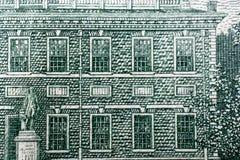 El fragmento del billete de dólar 100 Imagen de archivo