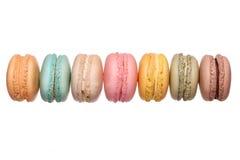El francés colorido Macarons aisló Fotografía de archivo