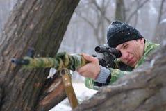 El francotirador. Imagenes de archivo