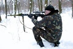 El francotirador. Imágenes de archivo libres de regalías