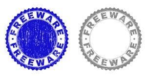 El FREEWARE del Grunge rasguñó los sellos del sello libre illustration