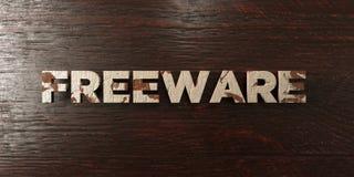 El Freeware - título de madera sucio en arce - 3D rindió imagen común libre de los derechos libre illustration