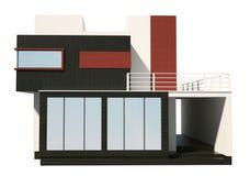 El frente de la casa privada moderna 3d exterior rinde Fotos de archivo