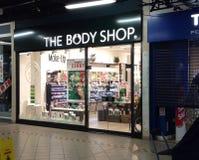 El frente de la tienda de Body Shop Imágenes de archivo libres de regalías