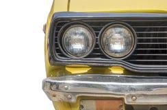 El frente del coche retro Foto de archivo libre de regalías