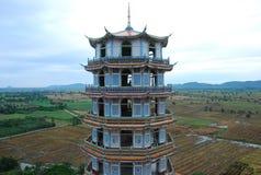 El frente del soporte del templo de China de la yarda del arroz Fotografía de archivo libre de regalías