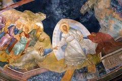El fresco de Anastasis en el museo de Kariye en Estambul, Turquía Fotos de archivo