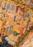 El fresco de Jes?s trajo antes de Pontius Pilate en la iglesia de Santo Sepulcro, Jerusal?n fotografía de archivo libre de regalías